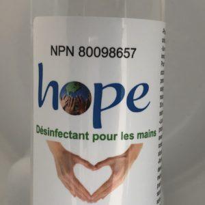 Désinfectant pour les mains.Conformément aux normes de santé Canada. Certifié .