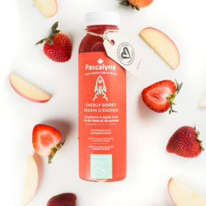 jus de fraise-pomme pressé à froid/ cold pressed juice
